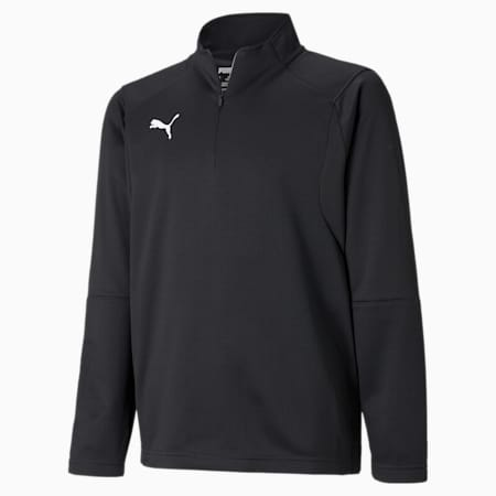 LIGA Quarter Zip Kids' Training Top, Puma Black-Puma White, small