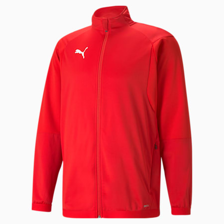 LIGA Men's Training Jacket, Puma Red-Puma White, small