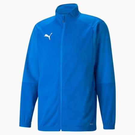 LIGA Men's Training Jacket, Electric Blue Lemonade, small