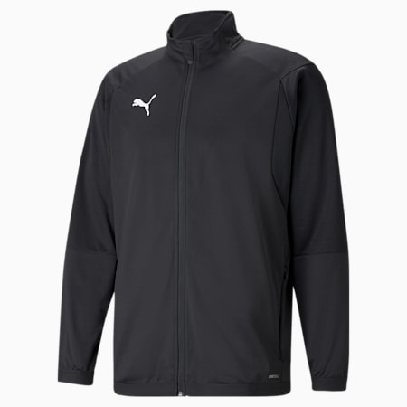 LIGA Men's Training Jacket, Puma Black-Puma White, small-GBR