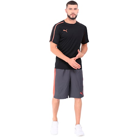 evoTRG Tech Tee, Puma Black-Fiery Coral, small-IND