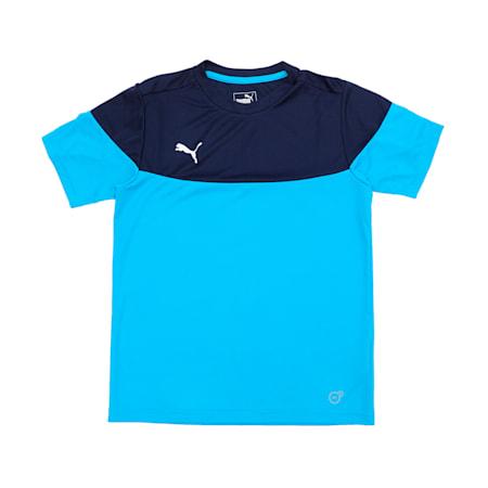 ftblPLAY Kids' Shirt, Bleu Azur-Peacoat, small-IND