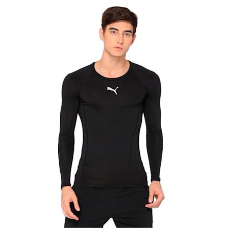 LIGA dryCELL Baselayer Long Sleeve T-Shirt, Puma Black, small-IND