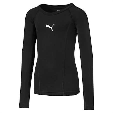 LIGA Baselayer Long Sleeve Kids' Tee, Puma Black, small
