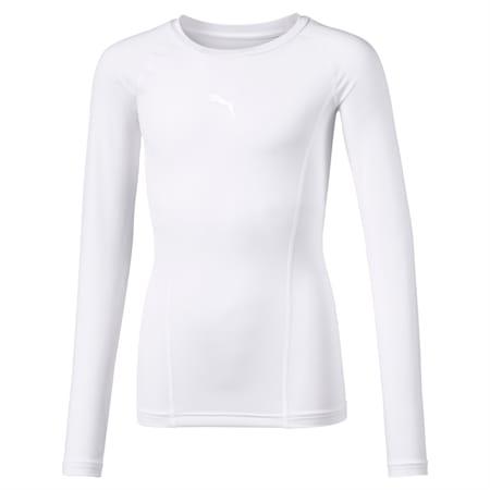 LIGA Baselayer T-shirt met lange mouwen voor kinderen, Puma White, small