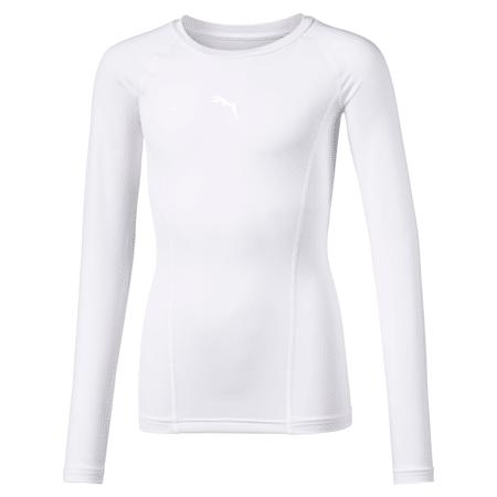 T-shirt a maniche lunghe LIGA Baselayer bambino, Puma White, small