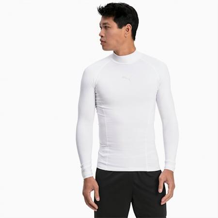 LIGA Baselayer T-shirt met lange mouwen voor heren, Puma White, small