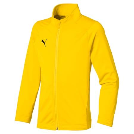 Kurtka dla dzieci Football LIGA Sideline Core, Cyber Yellow-Puma Black, small