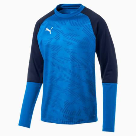 Sudadera de fútbol para hombre CUP Training Core, Electr Blue Lemonade-Peacoat, small