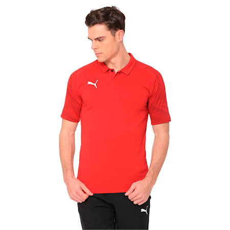 CUP Sideline Polo, Chili Pepper-PUMA Red, small-IND