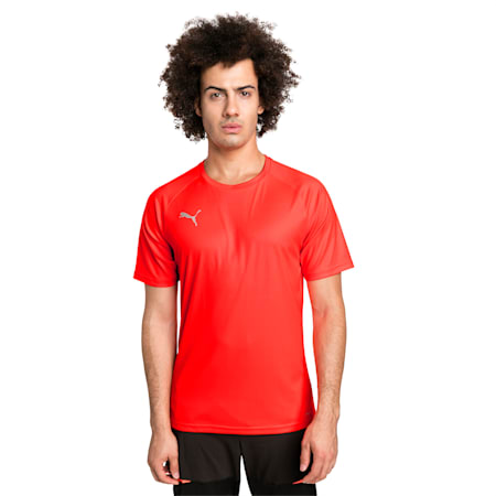 ftblNXT Men's Football Tee, Red Blast-Puma Black, small-IND