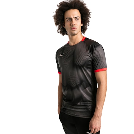 ftblNXT Graphic Men's Shirt, Puma Black-Red Blast, small-SEA