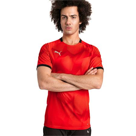 ftblNXT Graphic Men's Shirt, Red Blast-Puma Black, small-IND