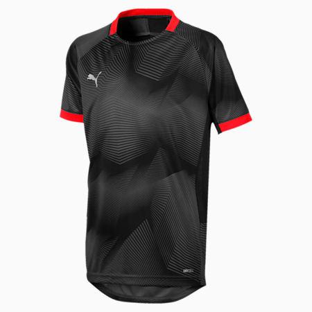 ftblNXT Graphic Shirt Jr, Puma Black-Red Blast, small-IND
