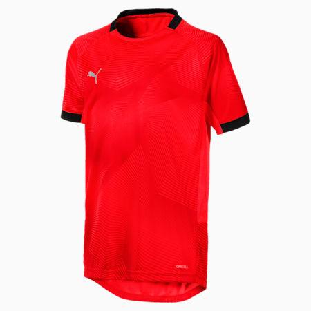 ftblNXT Graphic Shirt Jr, Red Blast-Puma Black, small-IND