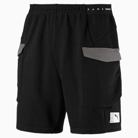 ftblNXT Men's Football Shorts, Puma Black-Charcoal Gray, small-SEA