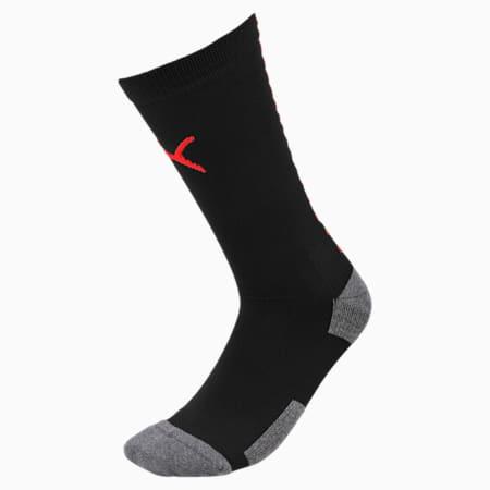 Team ftblNXT Men's Football Socks, Puma Black-Red Blast, small