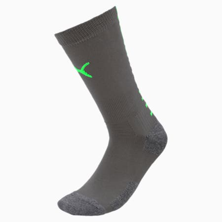 Team ftblNXT Men's Football Socks, Ebony-Green Gecko, small