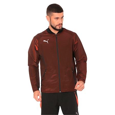ftblNXT Pro Jacket, Puma Black-Red Blast, small-IND