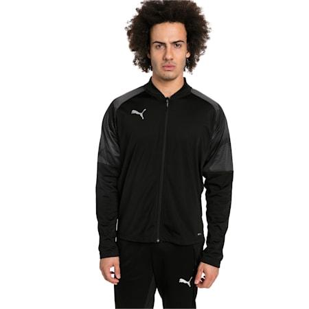 ftblNXT Zip-Up Men's Track Jacket, Puma Black-Red Blast, small-IND