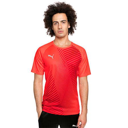 ftblNXT Core Men's Football Graphic Tee, Red Blast-Puma Black, small-GBR
