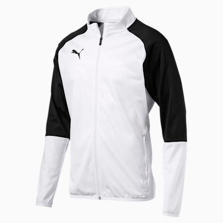 カップ トレーニング ジャケット コア, Puma White-PUMA Black, small-JPN