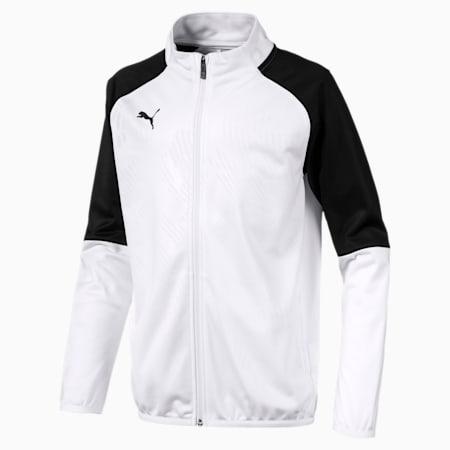 キッズ カップ ジュニア トレーニング ジャケット コア, Puma White-Puma Black, small-JPN