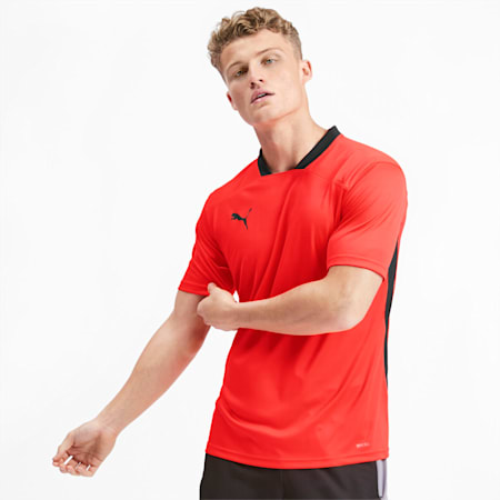Men's Training Tee, Nrgy Red-Puma Black, small-IND