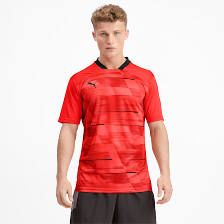 Graphic Men's Tee, Nrgy Red-Puma Black, small