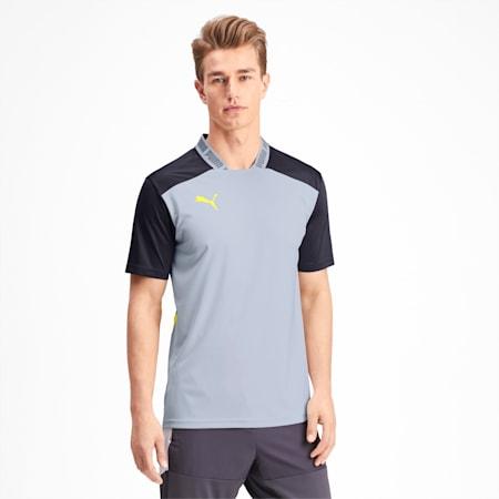 T-Shirt Pro pour homme, Grey Dawn-Yellow Alert, small