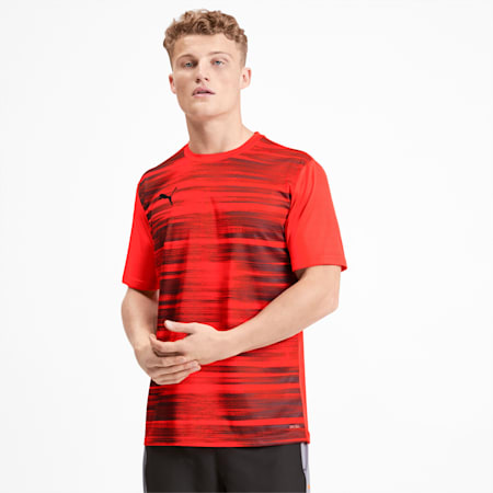 ftblNXT Core Graphic Shirt, Nrgy Red-Puma Black, small