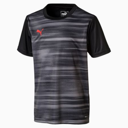 ftblNXT Graphic Boys' Shirt, Puma Black-Nrgy Red, small-IND