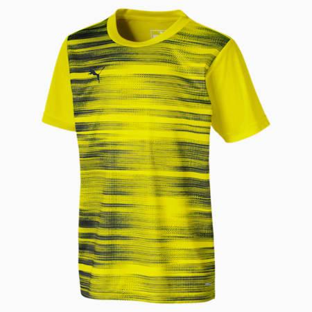 ftblNXT Graphic Kids' Shirt, Yellow Alert-Grey Dawn, small