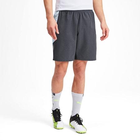 Men's Shorts, Grey Dawn-Yellow Alert, small