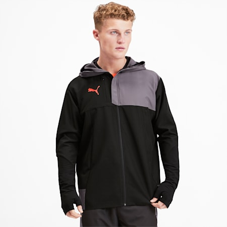 Pro Men's Track Jacket, Puma Black-Nrgy Red, small