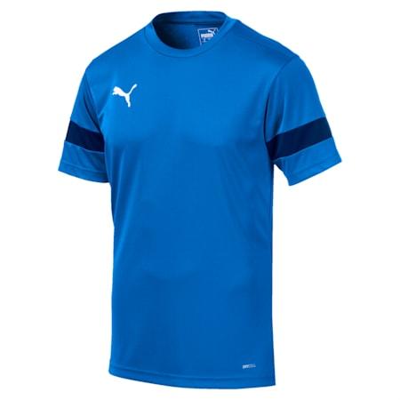 Men's Training T-Shirt, Electric Blue Lemon-New Navy, small-IND