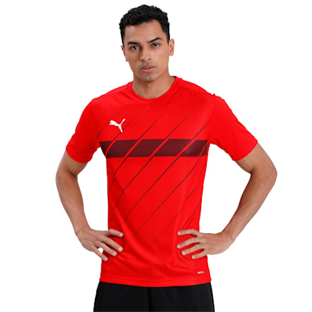 ftblPLAY Graphic dryCELL Men's Shirt, Puma Red-Burgundy, small-IND