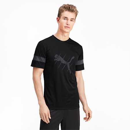 ftblPLAY Men's Logo Tee, Puma Black-Asphalt, small
