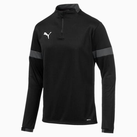 Quarter Zip Men's Training Top, Puma Black-Asphalt, small