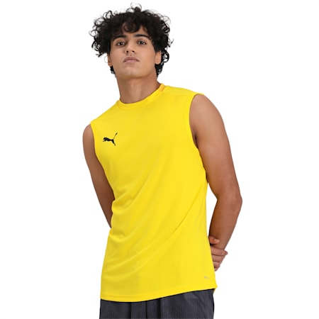 FINAL Sleeveless Training Men's Jersey, Cyber Yellow-Spectra Yellow, small-IND