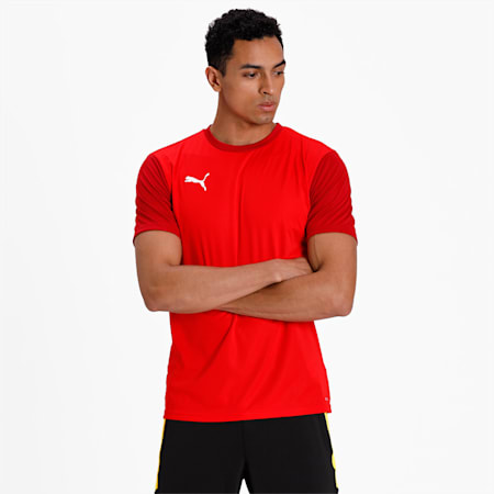 GOAL Sideline Football Men's T-Shirt, Puma Red-Chili Pepper, small-IND