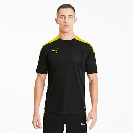 Męska koszulka ftblNXT, Puma Black-ULTRA YELLOW, small