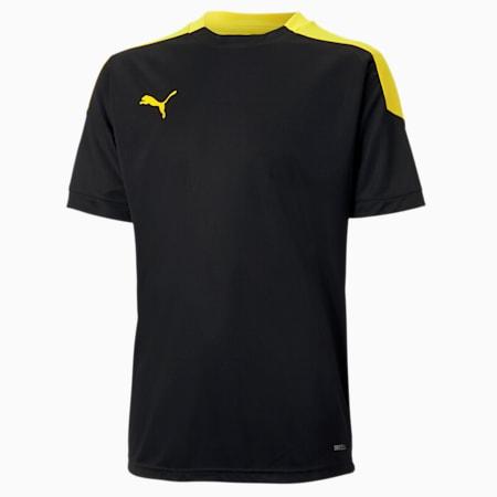 ftblNXT Kinder Fußball T-Shirt, Puma Black-ULTRA YELLOW, small