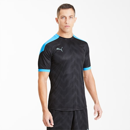 ftblNXT Men's Graphic Soccer Jersey, Puma Black-Luminous Blue, small