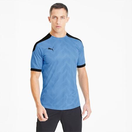 ftblNXT Men's Graphic Soccer Jersey, Luminous Blue-Puma Black, small