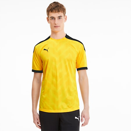 ftblNXT Men's Graphic Soccer Jersey, ULTRA YELLOW-Puma Black, small