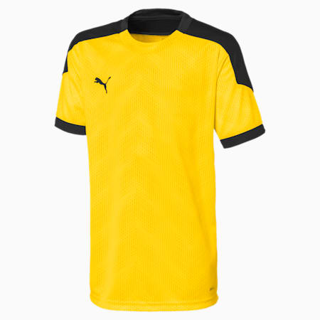 ftblNXT Graphic Kinder Fußball T-Shirt, ULTRA YELLOW-Puma Black, small
