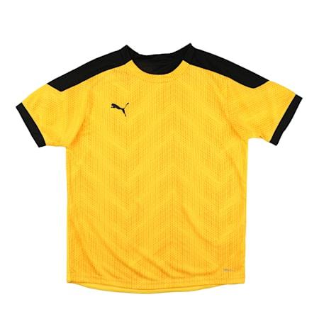 ftblNXT Graphic Shirt Jr, ULTRA YELLOW-Puma Black, small-IND
