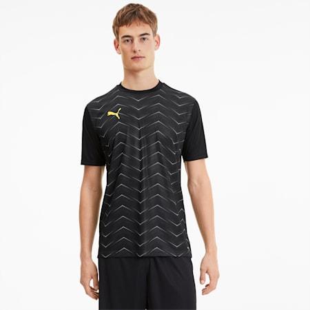 ftblNXT Graphic Men's Core Football Tee, Puma Black-ULTRA YELLOW, small-SEA
