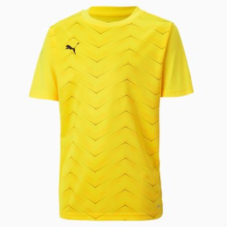 ftblNXT Graphic Core Kinder T-Shirt, ULTRA YELLOW-Puma Black, small